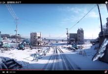 2016.1.24・富岡町/富岡駅前-月の下