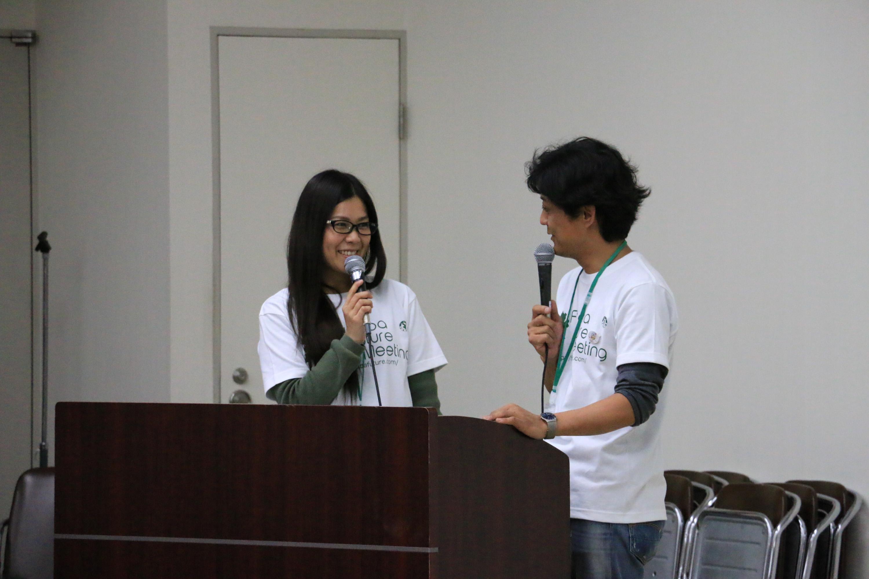 司会を務めた藤田さん(写真左)と牛来さん。