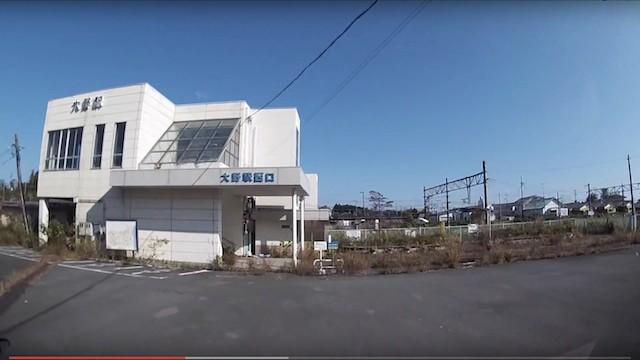 2015 10 18 大熊町・下野上ーオフサイトセンターー大野駅ー図書館ー大熊中(車載2倍速)