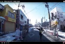 2016.1.24・雪残る浪江町内(車載2倍速)
