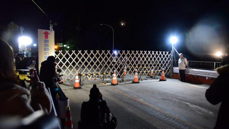 20200304/双葉町午前0時/厚生病院前ゲート開放
